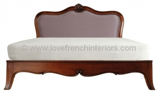 Paris Mahogany Upholstered Bed